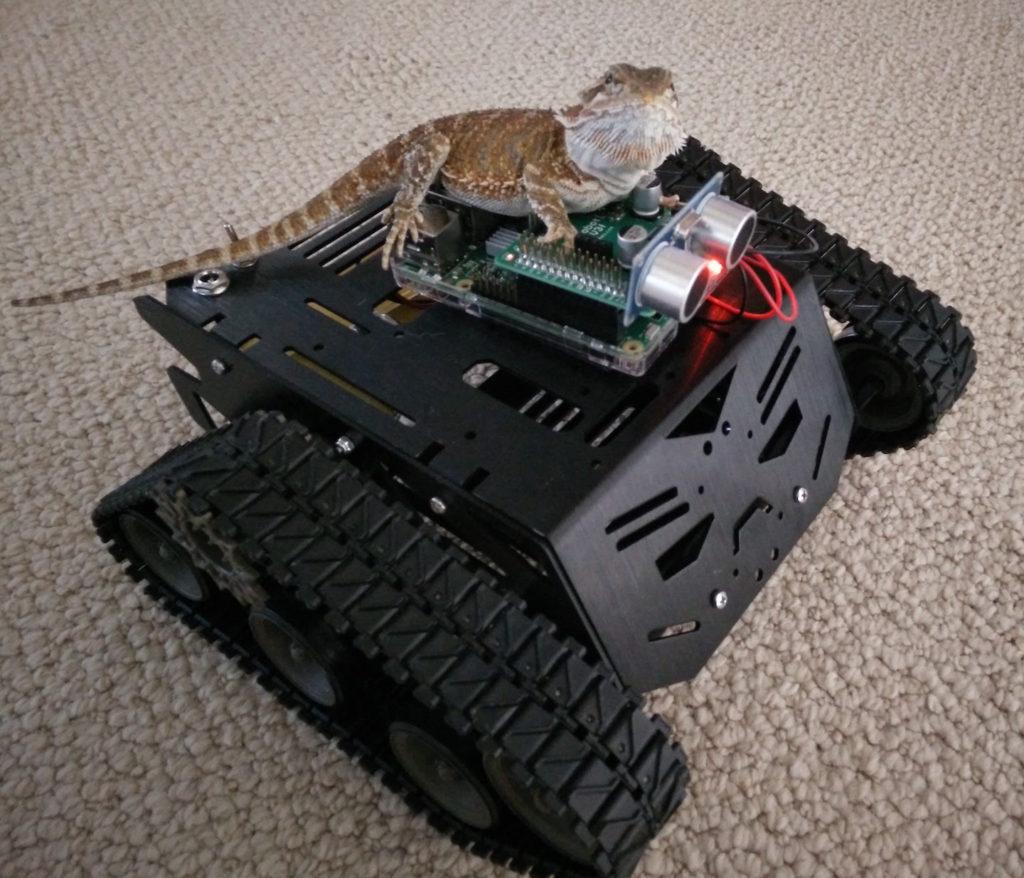 Picture of Bearded Dragon on DFRobot Devastator Tracked Robot Raspberry Pi Arduino