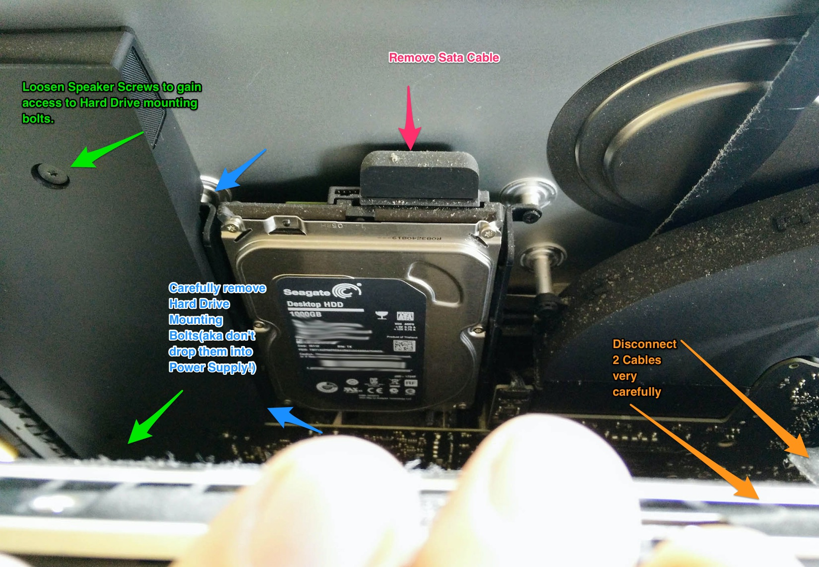 iMac 27 2013 Fusion Hard Drive Replacement with SSD