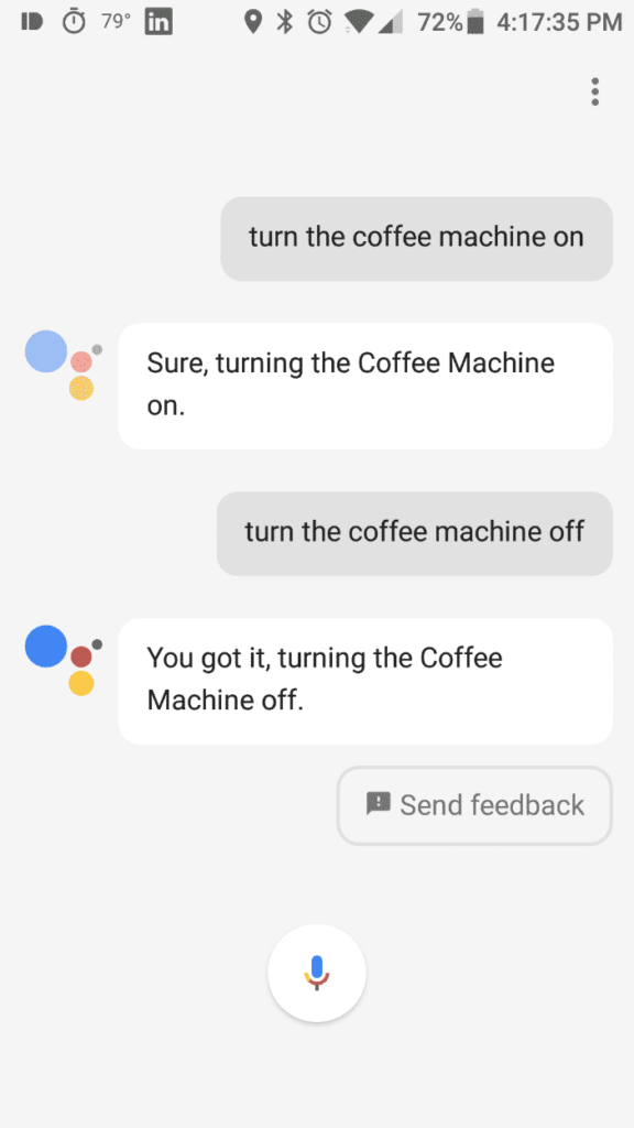 Screenshot Wemo Wifi Android Google Assistant Turn Coffee Machine On Off