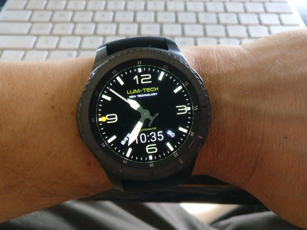 Picture of Lum-Tech Watchmaker Watch Face on Samsung Gear S3 Smartwatch Normal Mode