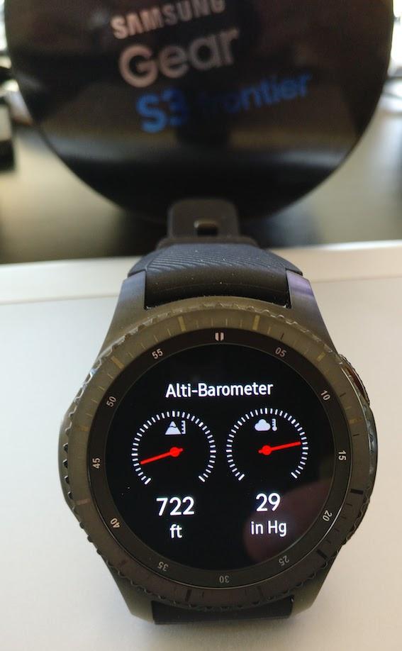 Picture of Samsung Gear S3 Smartwatch Altimeter Barometer Widget