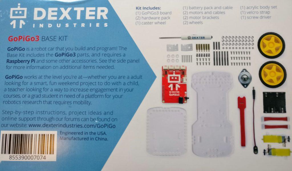 Dexter GoPiGo3 Robot Kit Introduction